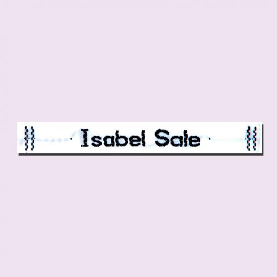 Woven White Sew on Label