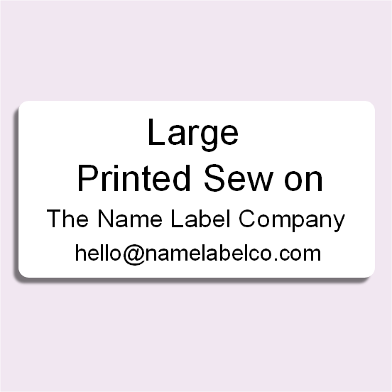 Large Printed Sew on Label
