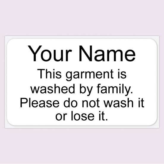 Large ONCE™ Iron on Name Labels