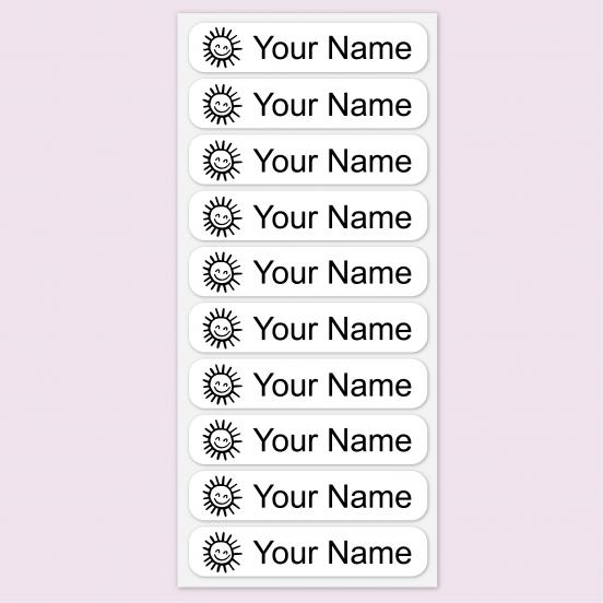 Medium ONCE™ Iron on Clothing Name Labels